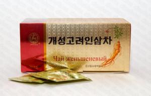 Чай из кэсонского красного 6-летнего женьшеня, Кэсон Коре Инсам Чха, 3 гх30 саше, КНДР