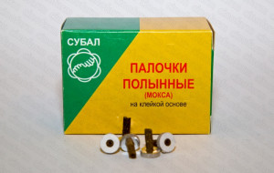 Мокса (палочки полынные) на клейкой основе / 100 шт.