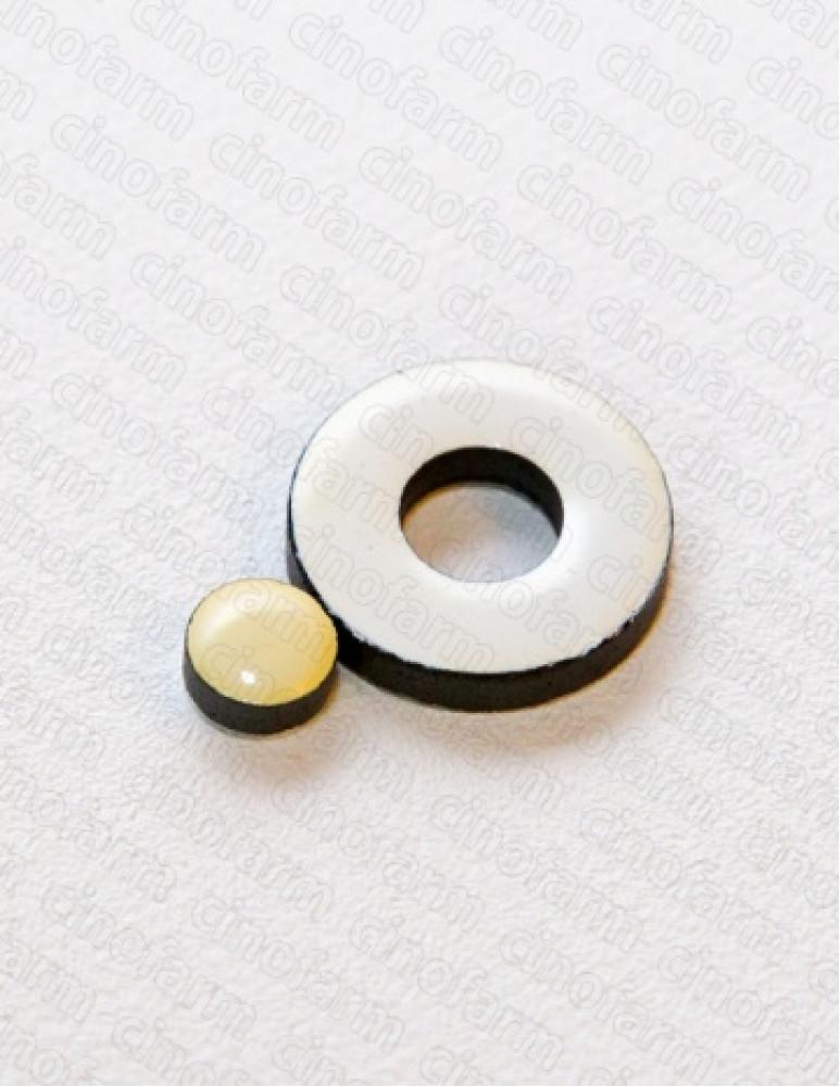 Магнит кольцевой со вставкой большой 17 мм
