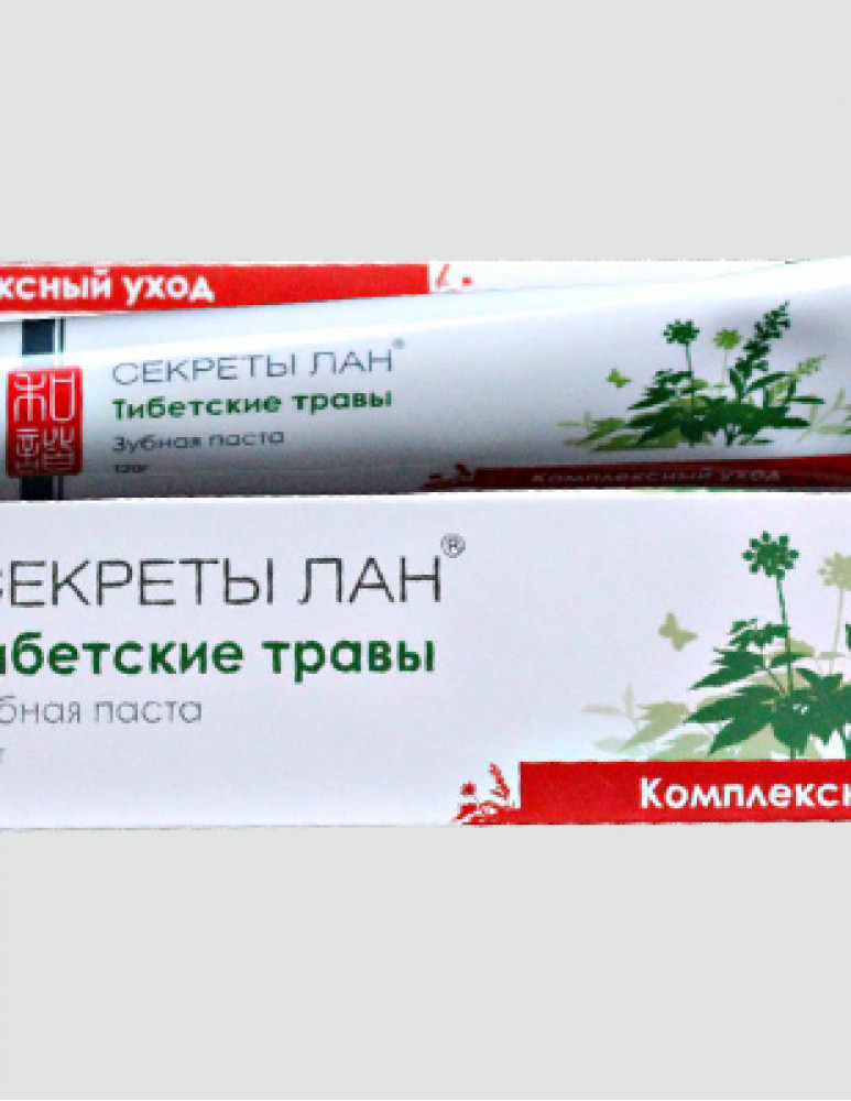 Зубная паста Тибетские травы. Комплексный уход, 120 г Секреты Лан